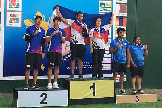 Paul Marton de la cruz, Amaya Paz-Cojuangco win mixed team compoundgold inAsia Cup archery