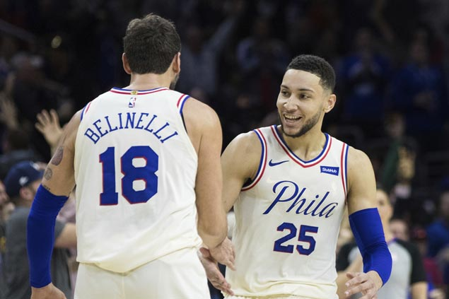 Ben Simmons suits up against Hawks after suffering stomach flu as 76ers try to secure No. 3 in East