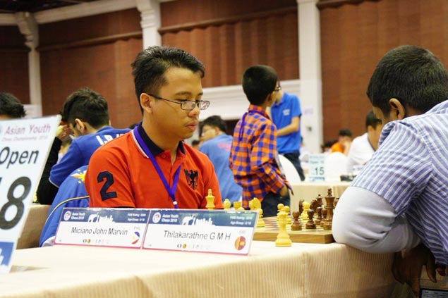 John Marvin Miciano bags gold in U18 of Asian Youth Chess Championship