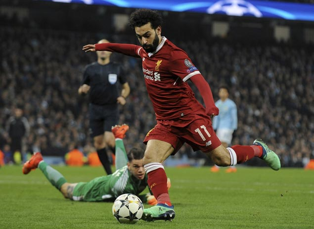 Mohamed Salah delivers killer blow as Liverpool finishes off City to gain Champions League semis