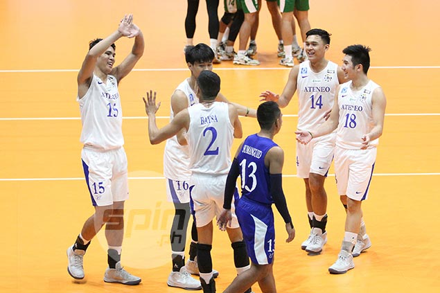 Ateneo, FEU dispatch separate foes to forge three-way tie for UAAP men's volley lead