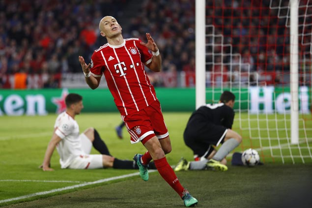 Bayern back in Champions League semifinals after scoreless draw with Sevilla
