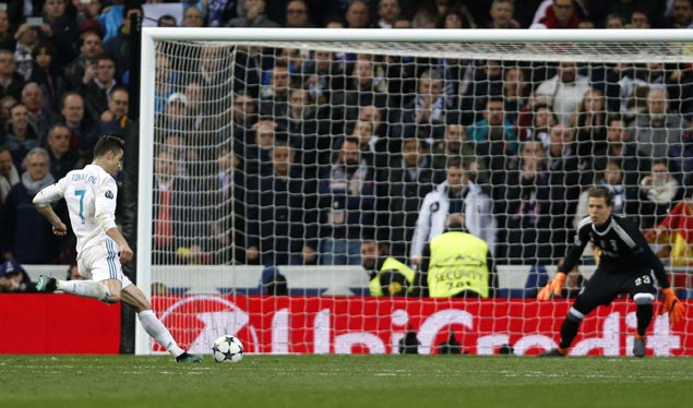 Cristiano Ronaldo penalty in injury time pushes Madrid past Juve and into semis on aggregate