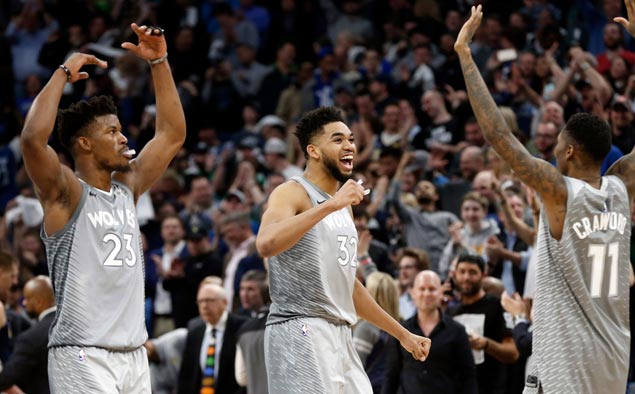 Wolves end NBA's longest-running playoff drought with win over Nuggets in final-day play-in game