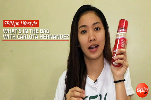 What's in the gym bag of FEU spiker Carlota Hernandez? Well, more bags. WATCH