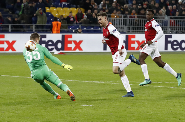 Arsenal overcomes scare from CSKA Moscow to reach Europa League semis