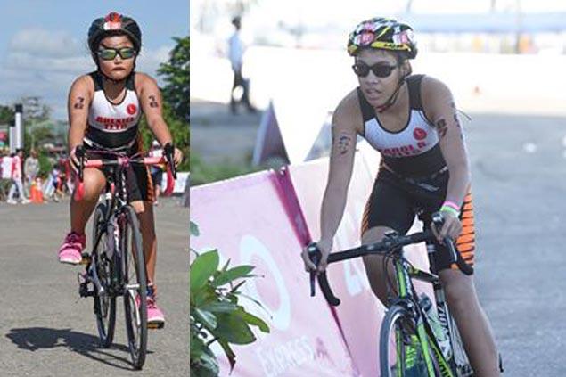 Siblings Earol and Rhexiel Belonguil of Cebu stamp mark in Davao age-group triathlon