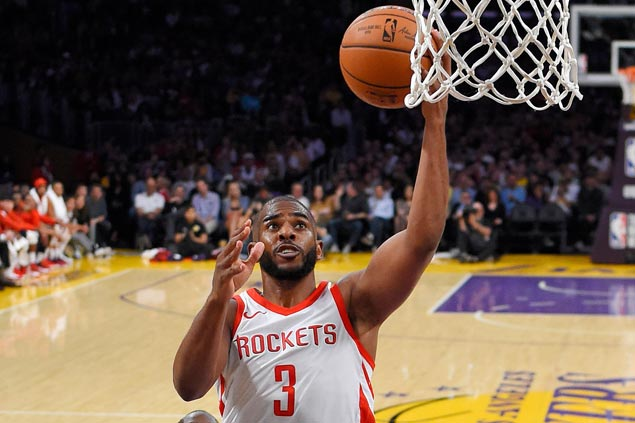 With Rockets, CP3 has chance to shake off years of playoff frustration