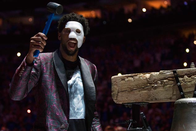 With Embiid a zealous cheerleader, Sixers pass first playoff test with flying colors