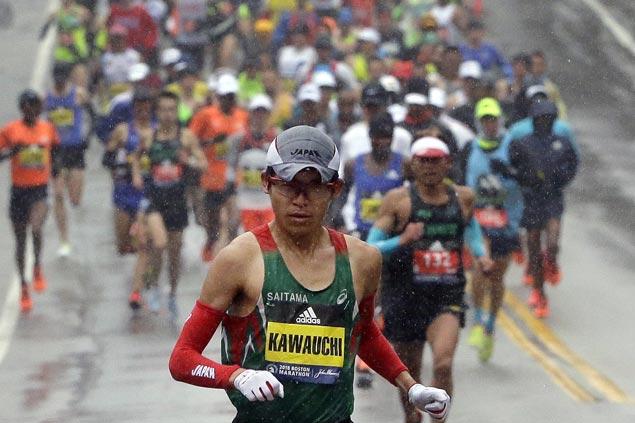 'Citizen Runner' Yuki Kawauchi now a major champ as he wins tough Boston Marathon