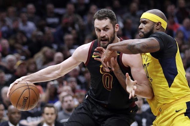 Cavs hold off Pacers to even series but Kevin Love suffers hand injury