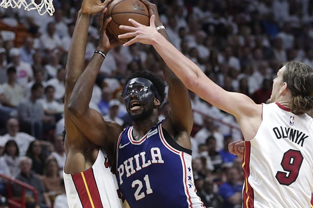 Embiid back in starting lineup for Game 3 as Sixers look to bounce back vs Heat