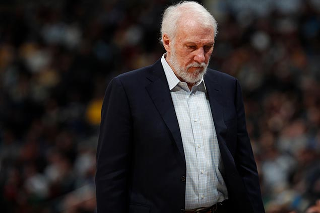 Spurs 'devastated, hurting' but vow to get a win for grieving coach Popovich