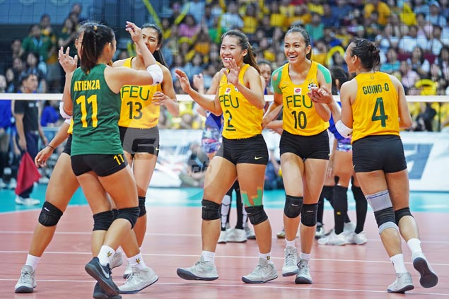 FEU Lady Tams eliminate Ateneo Lady Eagles, reach UAAP women's volley finals for the first time in nine years