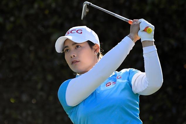 Moriya Jutanugarn takes one-stroke lead over Marina Alex in LA