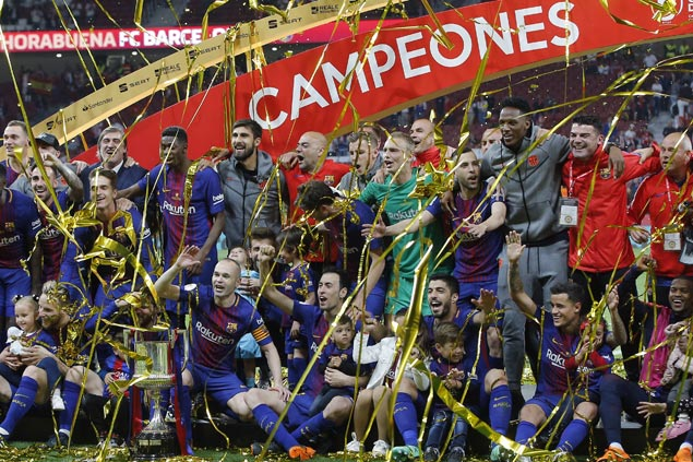 Andres Iniesta scores in likely farewell perfomance for Barca in Copa del Rey final win over Sevilla