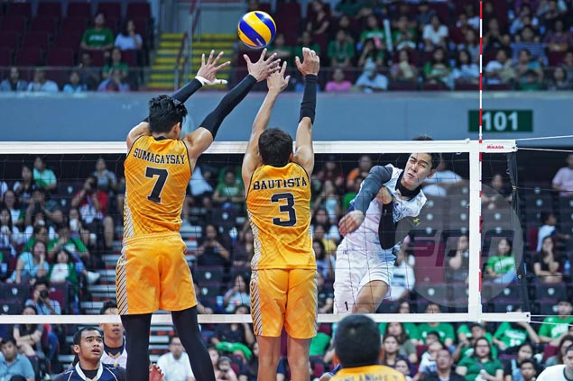 Bryan Bagunas powers NU Bulldogs past UST Tigers and into UAAP volleyball finals