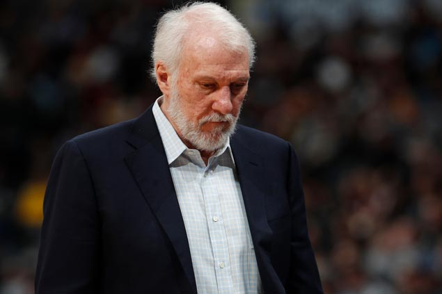 Without coach Gregg Popovich, Spurs look to avoid getting swept by Warriors