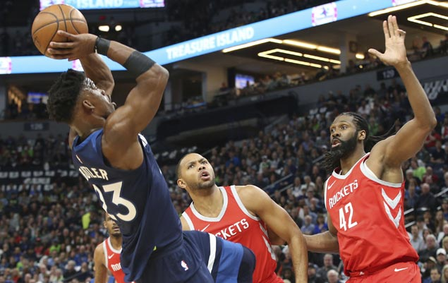 Timberwolves down Rockets to record first postseason win in 14 years