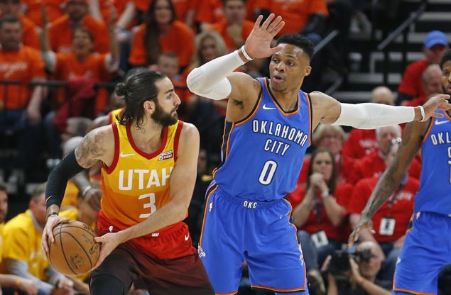 Ricky Rubio continues solid postseason play, posts triple-double as Jazz take series lead over Thunder