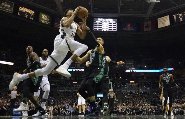 Bucks even series with Celtics as Giannis late tip-in seals Game Four win