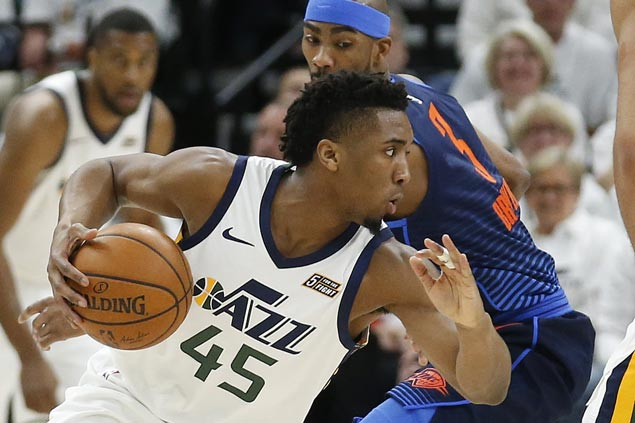 Jazz a win away from conference semis as Mitchell leads balanced offense against Thunder in Game Four