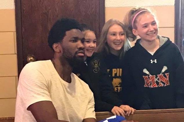 Joel Embiid surprises parishioners during service at church near Philadelphia