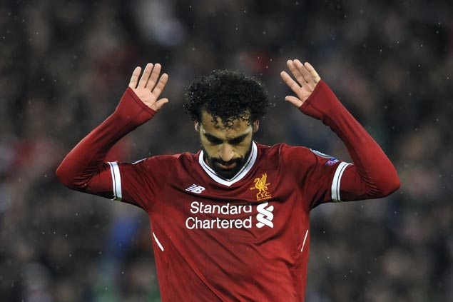 Mohamed Salah scores twice, sets up two goals as Liverpool rips Roma in semis first leg