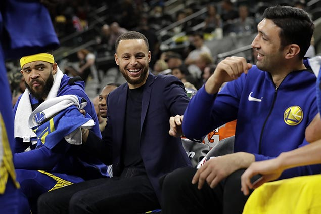Thompson on Curry return: 'If he doesn't play, we're prepared. If he plays, hallelujah'