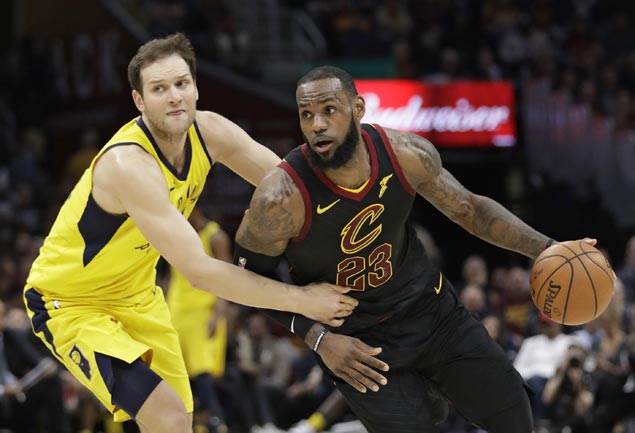 LeBron nails triple at the buzzer as Cavs nip Pacers to move closer to East semis