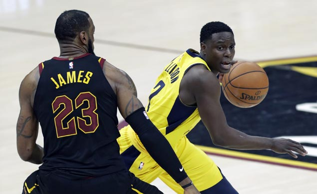 As Pacers fume, LeBron insists: 'Of course I didn't think it was a goal tend'