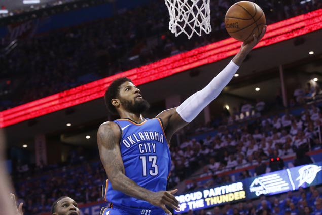 Paul George glad to see Thunder finally come together to stun Jazz, avoid elimination