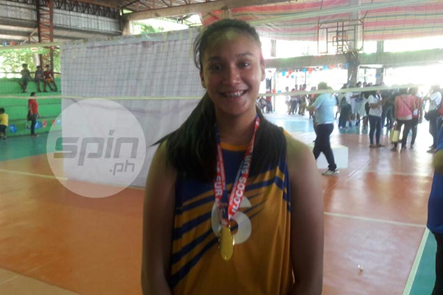 NU Lady Bullpups spiker Faith Nisperos shows grit in playing through ankle injury to bag Palaro gold