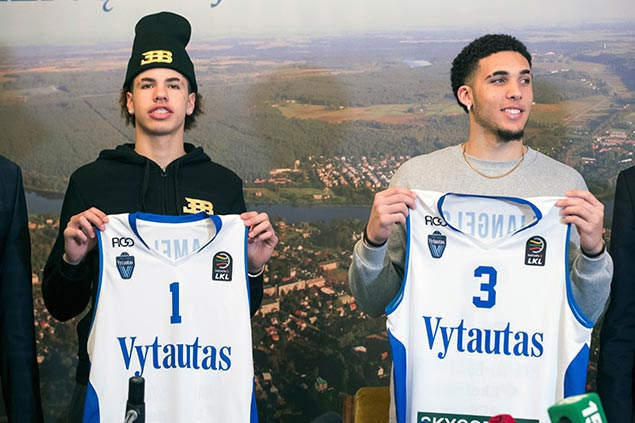 Ball brothers leave Lithuanian club due to injuries but LaVar says lack of playing time behind exit