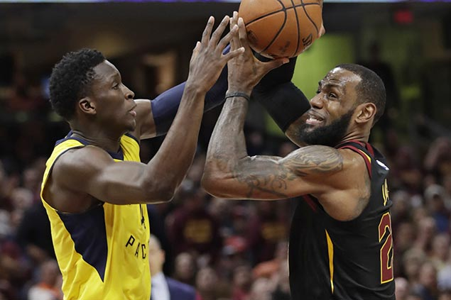NBA admits referees missed goaltending call on LeBron James late block in Game 5