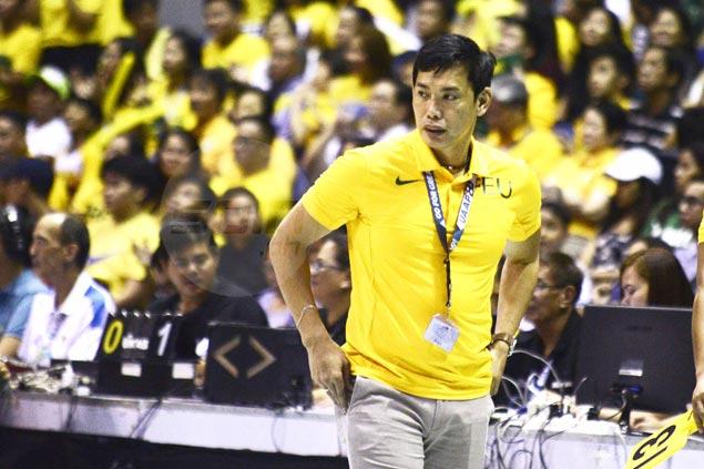 Coach George Pascua rues FEU's unforced errors in opener of title series against La Salle