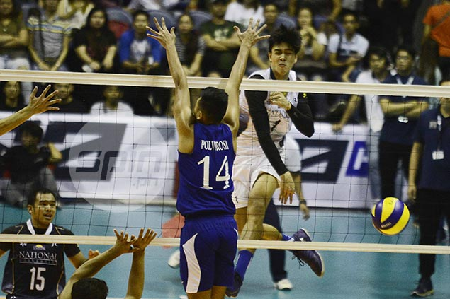 NU Bulldogs clobber Ateneo Blue Eagles to move a win closer to UAAP men's volleyball crown