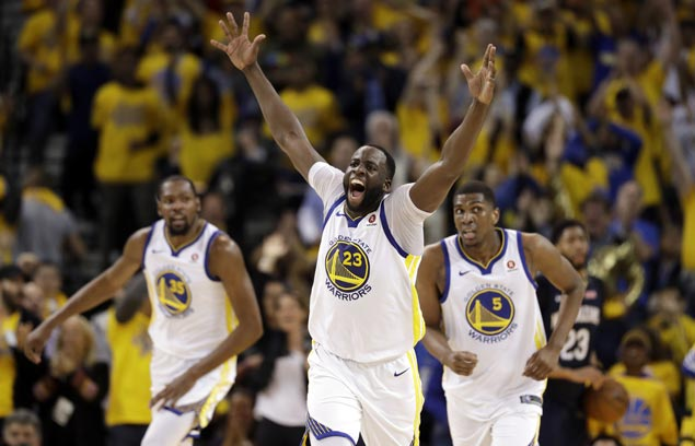 Warriors post 41-point second quarter, ease past Pelicans in conference semis opener