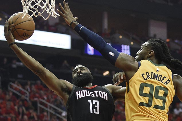 Rockets race out to huge lead and sail to victory over Jazz in opener of West semis
