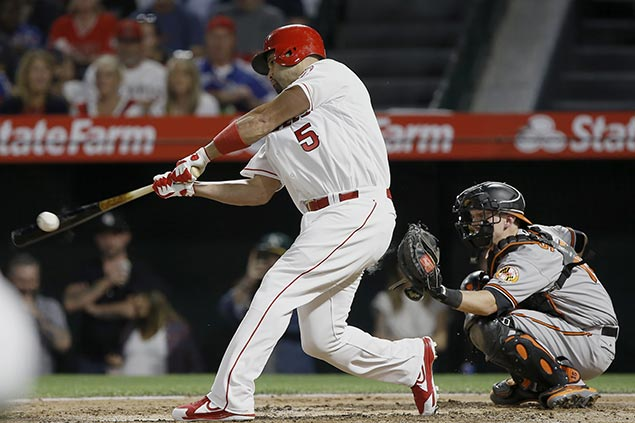 Albert Pujols moves on brink of joining 3,000-hit club as Angels clobber Orioles