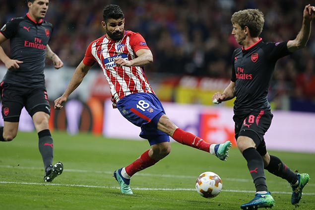 Costa spoils Arsenal's bid for one last trophy under Wenger as Atletico reaches Europa League final