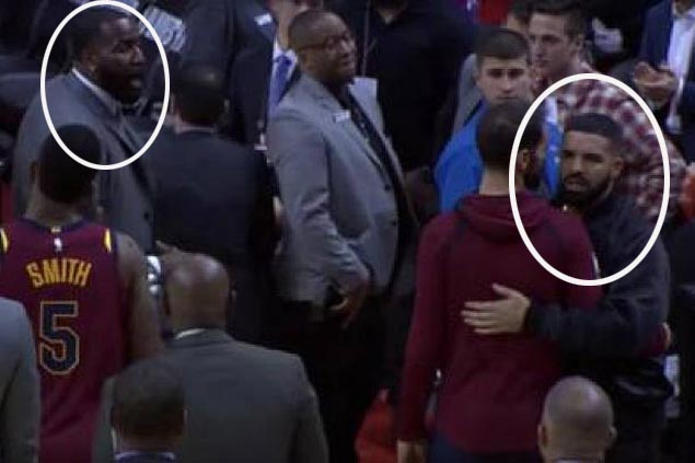 NBA issues warning to Raptors over rapper Drake's Game 1 spat with Cavs' Kendrick Perkins