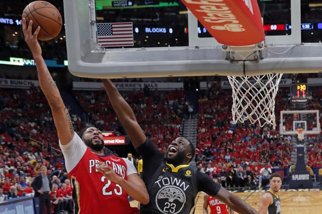 Anthony Davis dominates paint as Pelicans down Warriors to trim series deficit