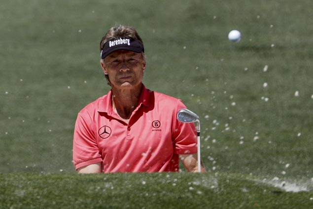 Bernhard Langer fires course-record 63 at Woodlands for three-stroke lead