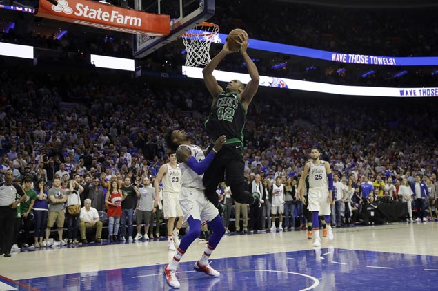 Celtics a win away from Eastern conference finals with wild OT win over 76ers