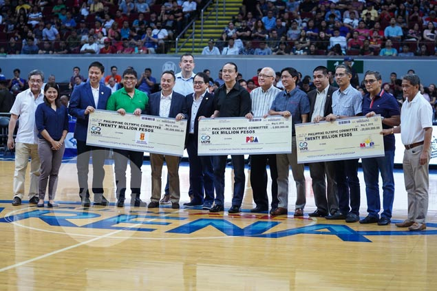 Rival MVP, San Miguel groups team up, donate P20M each for PH athletes' training