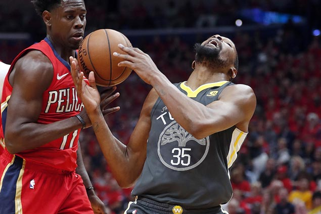 Kevin Durant scores 38 as Warriors bounce back, rip Pelicans to take 3-1 series lead