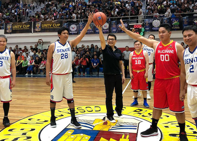 Joel Villanueva stars as Senate Sentinels overcome Bong Go-led Malacanang-PSC in UNTV Executive Cup