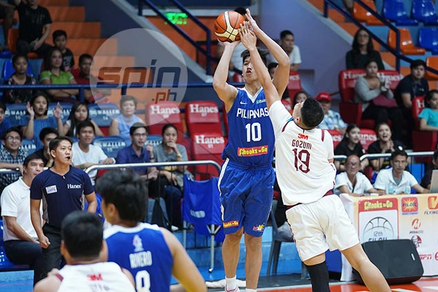 Gilas prospect Carl Tamayo, 17, turns heads as he holds ground against Akhuetie and Co.