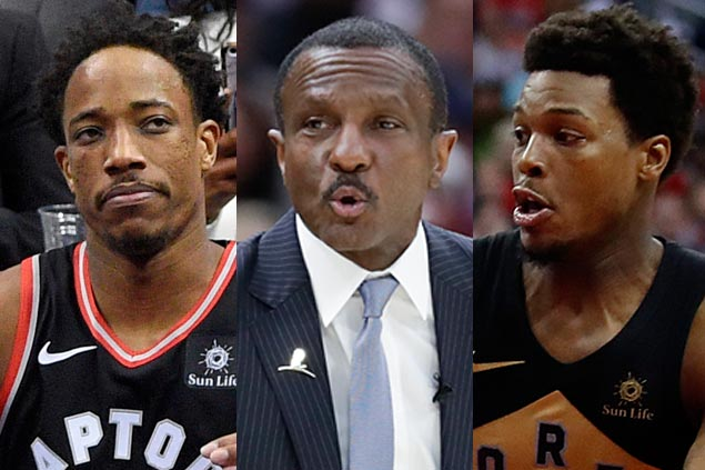 Change coming? Neither Lowry nor DeRozan directly endorse Casey but speak glowingly about Raptors coach